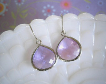 Lavender Earrings, Silver Earrings