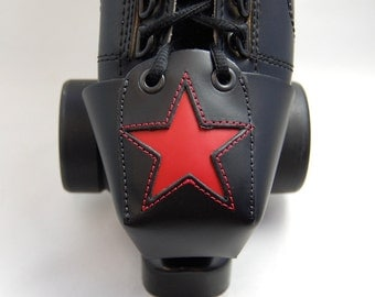 Leather Toe Guards with Red Stars