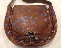 Vintage hand painted leather purse 30% off