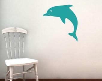 Dolphin Decal - Nursery Children Playroom - Sea Vinyl Wall Decals - Sea Ocean Friends