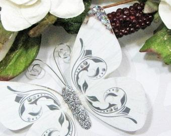 Butterfly Embellishments Silver Wings
