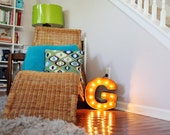 "Letter Light G - RUSTY - 12"" Vintage Marquee Lights-The Original!"