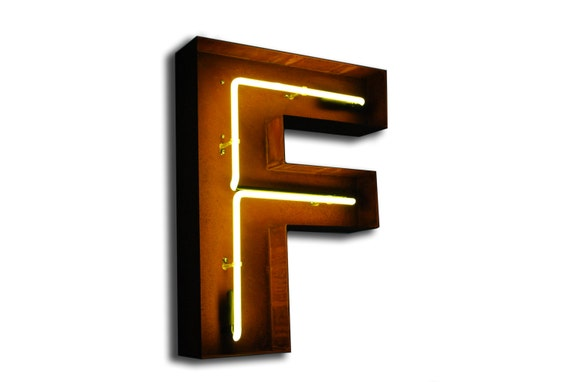marquee letters for sale vintage marquee lights neon letter f yellow 23580 | il 570xN.560541919 fxei
