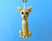 Chihuahua Pendant - Lampwork Dog - SRA