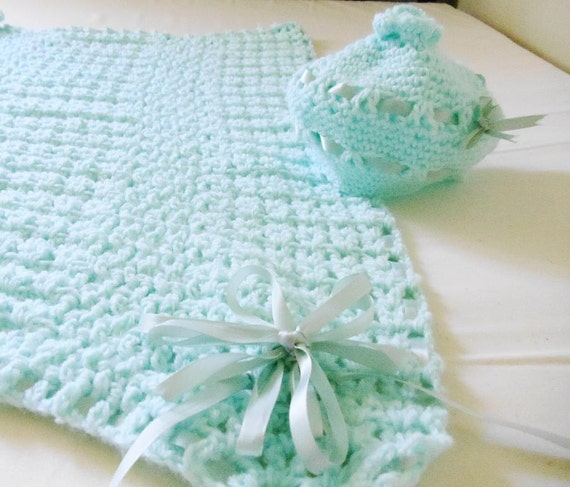 Baby Blanket and Beanie