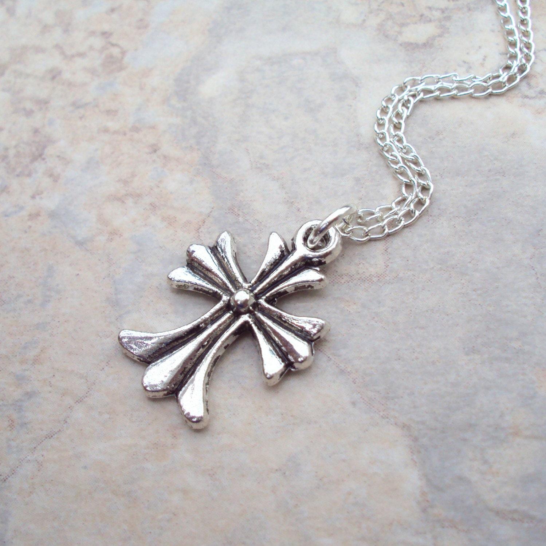 celtic cross pendant necklace minimal modern jewelry irish. Black Bedroom Furniture Sets. Home Design Ideas