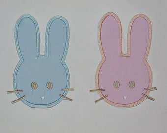 """Embroidered Iron On Applique-""""Easter Bunny"""""""