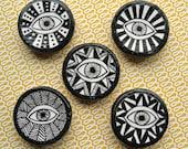 Evil Eye Hand-Drawn Magnets / Set of 3