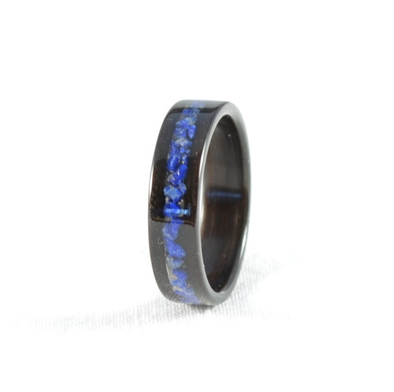 Wood Ring Lapis Lazuli Inlay In Ebony Bentwood Ring. Diffused Sapphire. Mikimoto Pearl Stud Earrings. Lighting Necklace. Rose Gold Anklet. Prince Rings. Italian Wedding Rings. Beads Silver. Light Watches