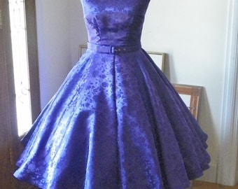1950s 50s Vintage Inspired Wedding Formal Cocktail Retro Party Prom Moviestar Mad Men Sexy Swing Crinoline Dress made to order