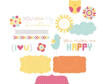 My Sunshine Digital Clipart Clip Art Illustrations - instant download - limited commercial use ok