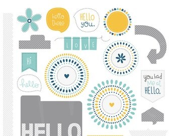 Hello You Digital Clipart Clip Art Illustrations - instant download - limited commercial use ok