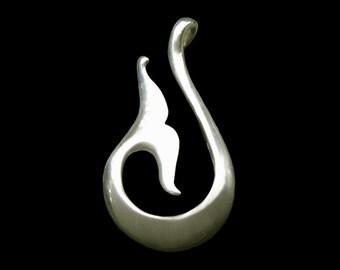 SALE  Matzu, Whale Tale, Taoist Sea Goddess Pendant / Necklace, Sea Protector,  Symbolic Jewelry
