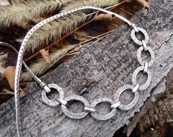 Diamond and Silver Necklace - 1201