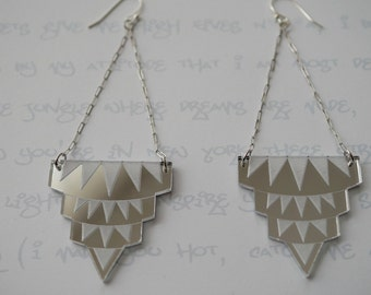 New York State of Mind Earrings in Silver Mirror