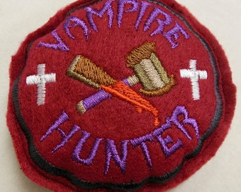Vampier Hunter Patch Cat A Tonic Organic Catnip Toy
