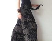 Breezy.. Black Floral Printed Palazzo wide leg pant