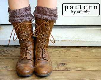 Boot Cuff Pattern, Knitting Pattern, Digital PDF Download File