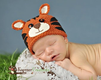 Tiny Tiger   (Hat ONLY)  Newborn photography prop