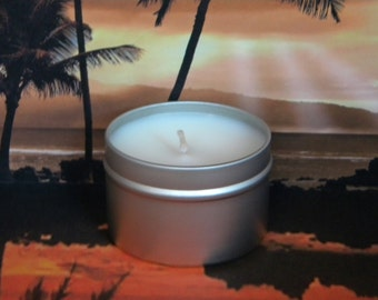 COMFORTABLY RUM Bay Rum Soy Candle Tin - Handmade Soy Candles