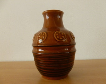 Retro West German Pottery by JASBA  shades of brown 1970s
