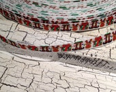 "3/8"" Christmas Reindeer presents and more Grosgrain Ribbon Bows Crafts sold by the yard"