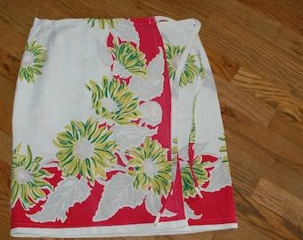 vintage tablecloth wrap skirt