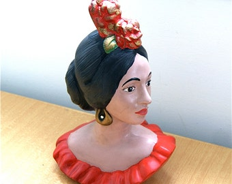 Bust of Spanish Dancer  // Vintage 50's/60's