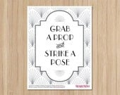 Instant Download - The Charleston Gatsby Wedding - Photo Booh Sign -  18x24
