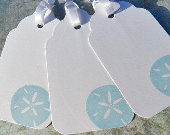 Nautical Gift Tags - Nautical Gift Wrap - Wedding Gift Tags - Wedding Wish Tree Tags - Sand Dollar Gift Tags - SSDTGW