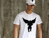 Flying Monkey White American Apparel Rock the Sky Aviator T-Shirt M L Xl