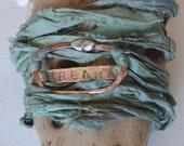 Wrap Bracelet, Handmade Jewelry.  Custom Jewelry,  Custom Wrap Sari Silk Bracelet