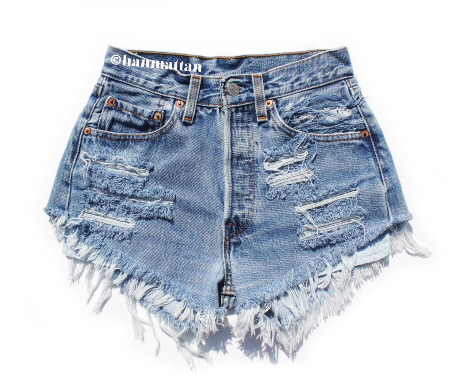 Distress Jean Shorts - The Else