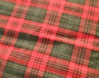 Red and Green Vintage Indian Madras Plaid BTY
