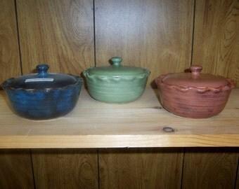 Fluted rim Multi purpose pot and or Sugar Bowl