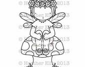 Pure Innocence 049 - Digi stamp - Instant Download, Digital Digi Stamp, printable, fairy