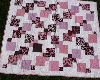 Pink & Brown Baby Squares