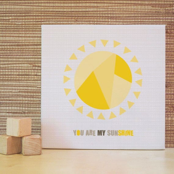 Wall decor you are my sunshine : You are my sunshine wall art sun rhymes baby decor yellow