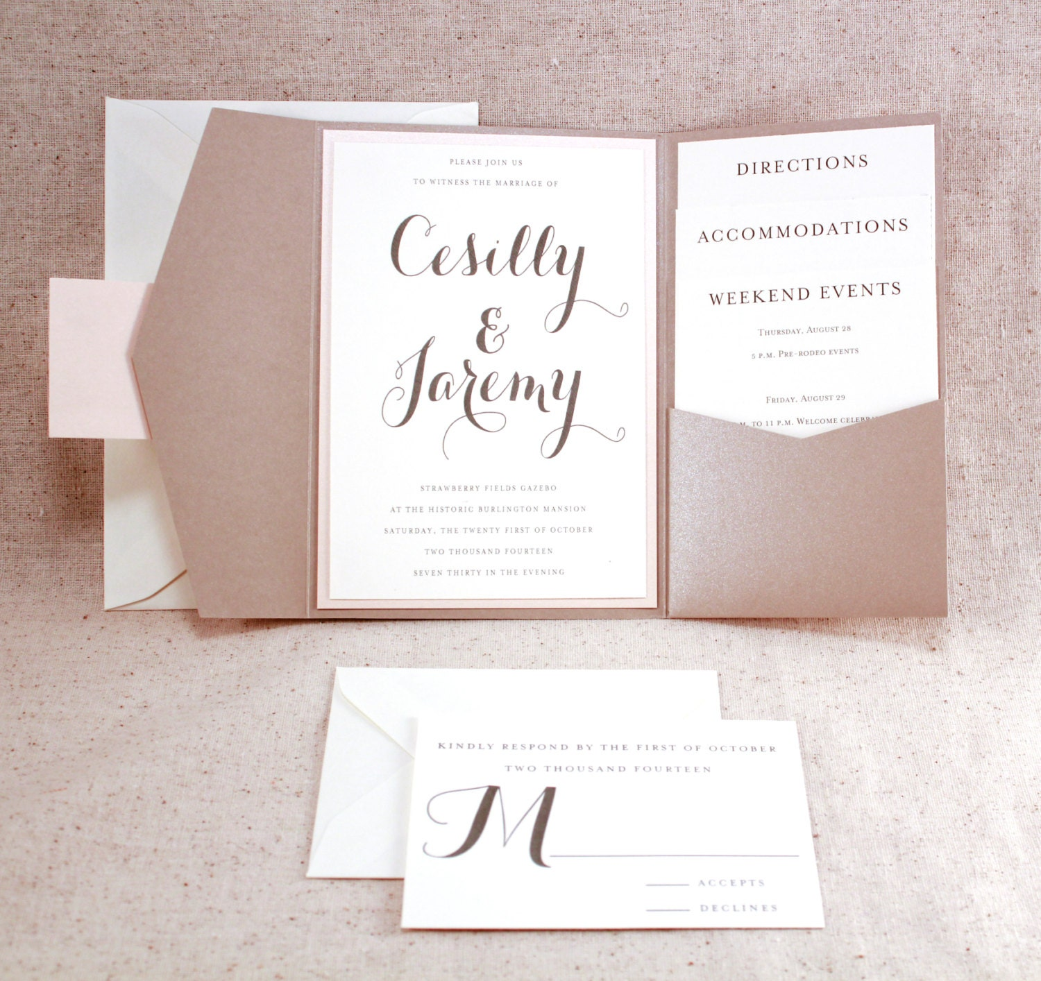 Wedding Invitation Set Sophisticated Elegance By