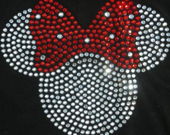 6 to 18 months clear/RED Minnie Mouse T-Shirt for Disney costume