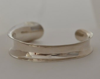 Sweeping Sterling Silver Cuff, Handmade in Maine