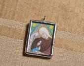 Saint Anne - Mother of Mary - Catholic Saint Charm - Medal - Patron Saint of Housewives - FREE SHIPPING