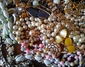 Large Lot of Costume Vintage Jewelry...Some Signed...1950's-1970's