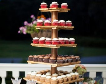 Rustic Wedding Cupcake Stand. 6 Tier. Holds over 100 cupcakes.