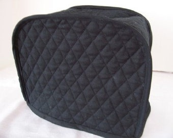 Black 2 Slice Toaster Cover Reversible Made To Order