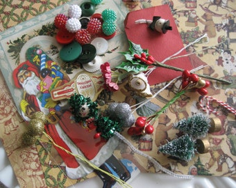 Vintage Christmas Altered Arts Kit