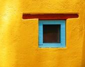 Southwestern Decor Santa Fe Style Mexico Photograph Yellow Turquoise San Miguel de Allende Bold Colors lat12