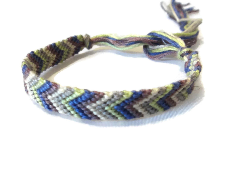 arrowhead friendship bracelet purple gray