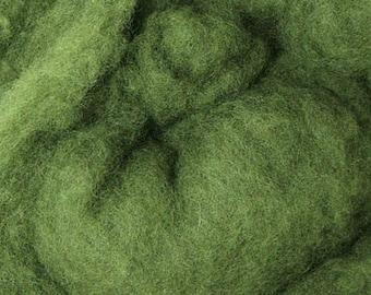 4 oz Short Fiber Merino Wool Sage