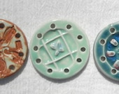2 1/4 in. Round Ceramic Centers Bases for Pine Needle Baskets